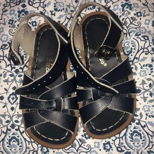 Salt Water Navy Blue Sandals